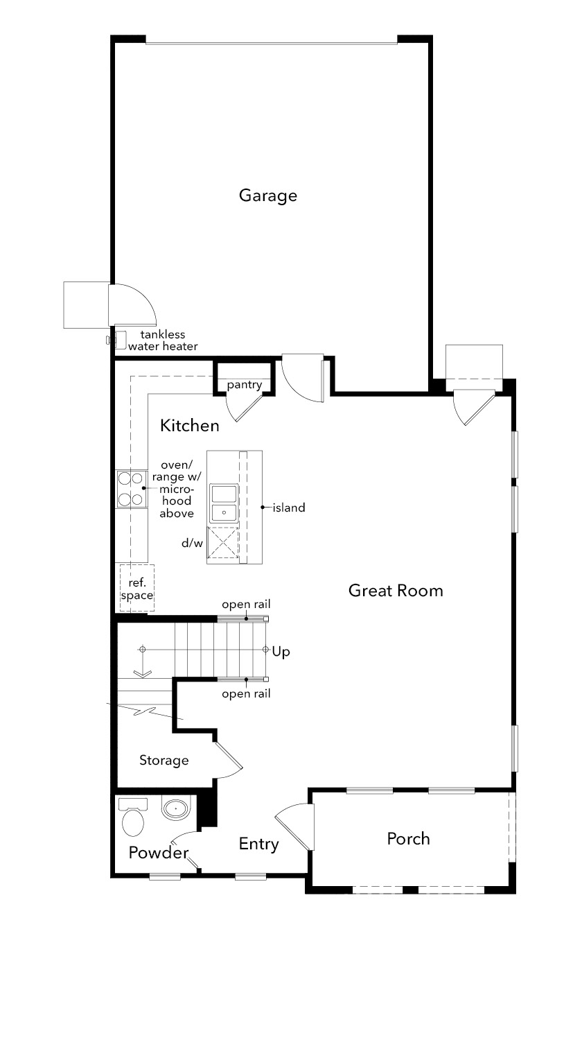 New Homes in Sacramento, CA - Plan 1744, First Floor