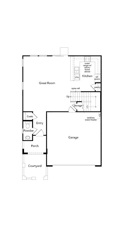 New Homes in Sacramento, CA - Plan 1885 Modeled, First Floor