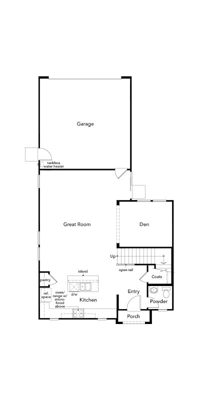 New Homes in Sacramento, CA - Plan 2140, First Floor