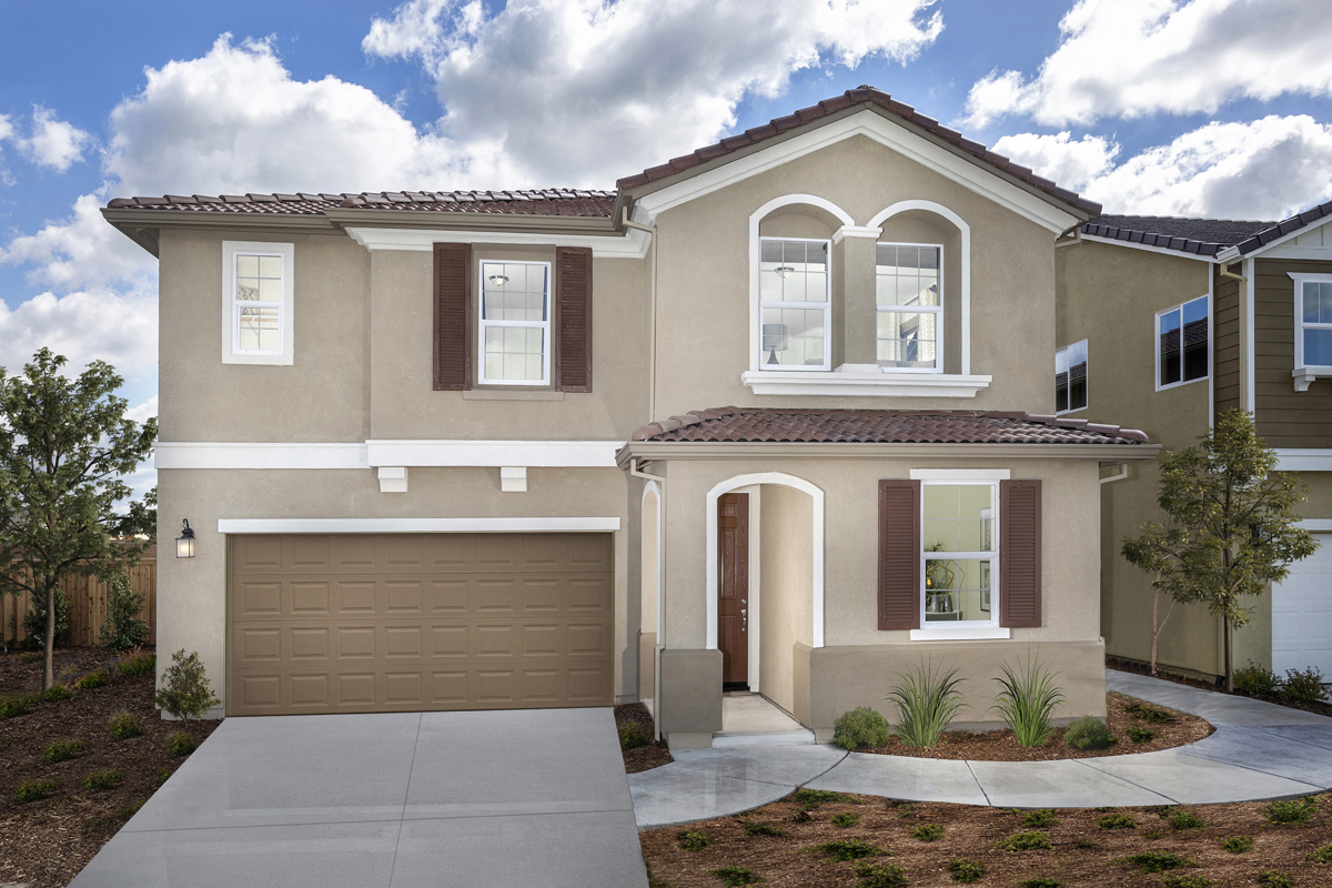 New Homes in Roseville, CA - Cadence at WestPark Plan 2487 - Spanish Elevation (A)