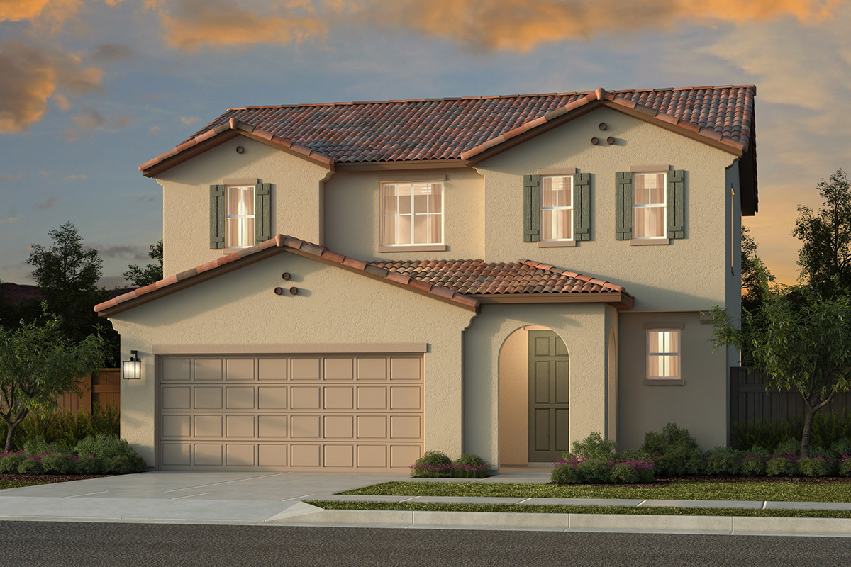 New Homes in Roseville, CA - Plan 1698 - Spanish Elevation (A)