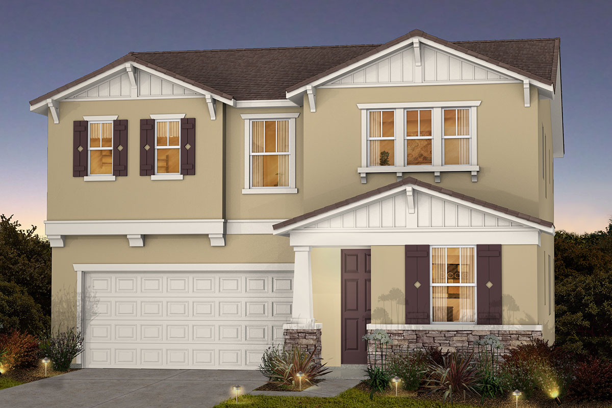 New Homes in Roseville, CA - Plan 2487 - Craftsman Elevation (B)