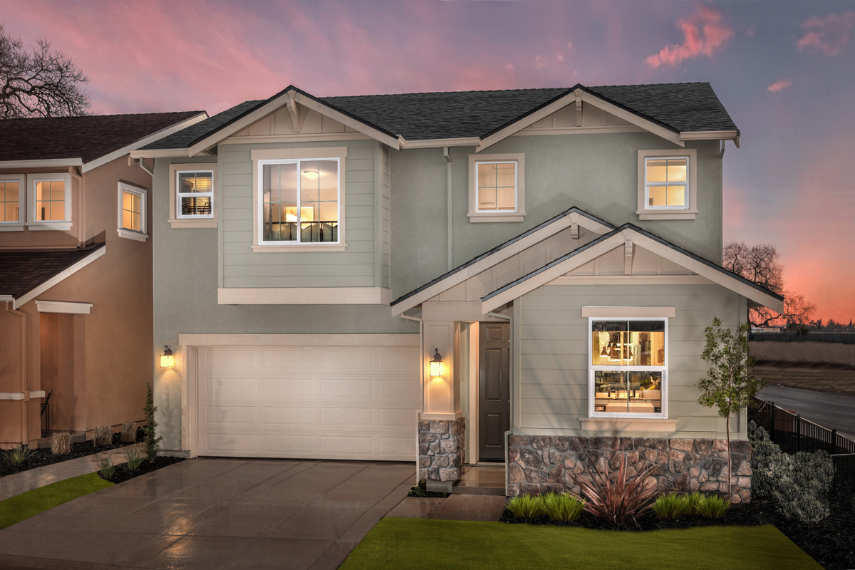 KB model home in Stockton, CA
