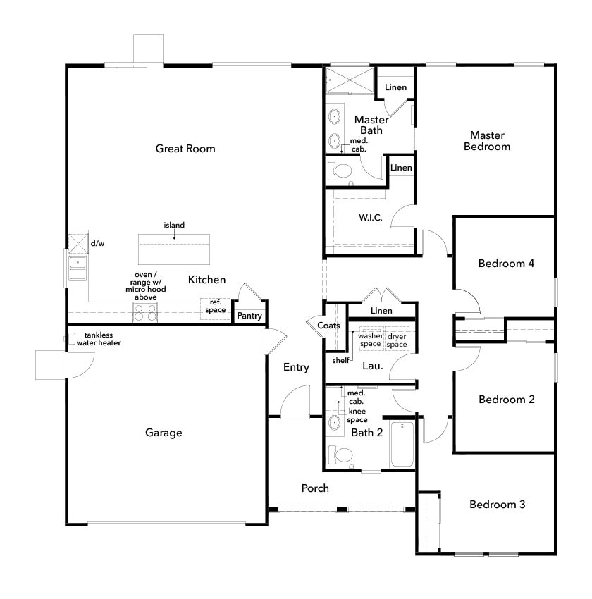 New Homes in Lincoln, CA - Plan 1862, First Floor