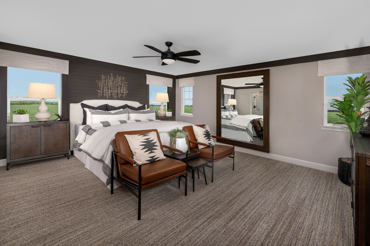 New Homes in Folsom, CA - Enclave at Folsom Ranch Plan 2102  Master Bedroom