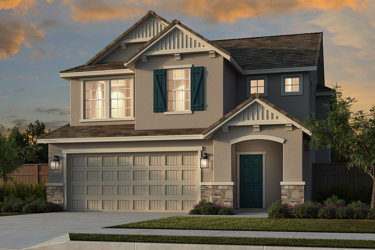 New Homes in Folsom, CA - Enclave at Folsom Ranch Plan 1832 Elevation D