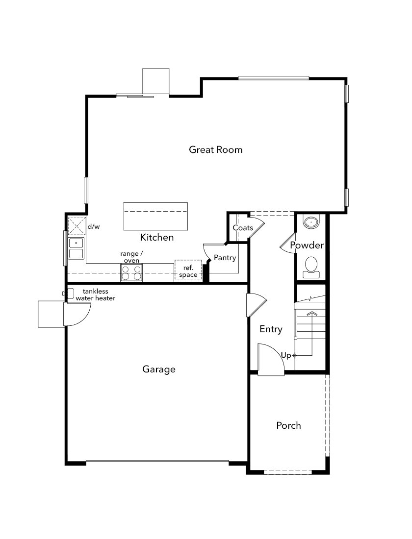 New Homes in Folsom, CA - Plan 1832, First Floor