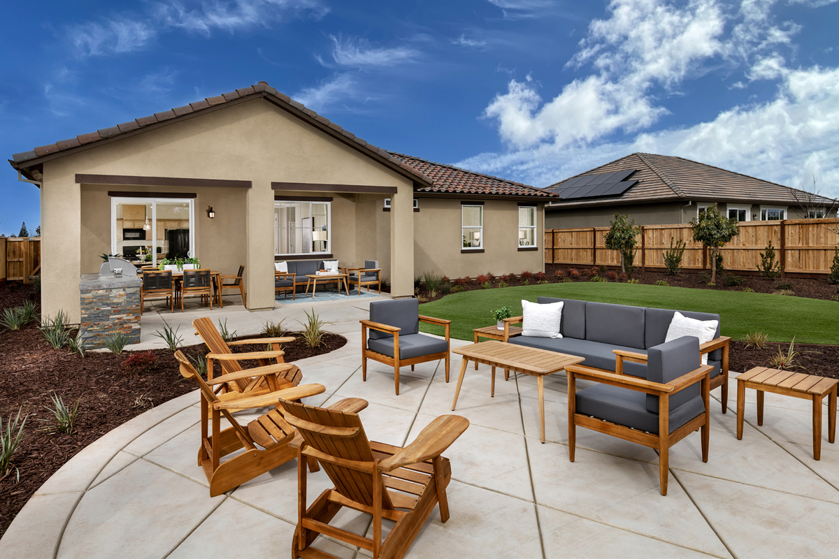 New Homes in Hughson, CA - Fieldstone Rear Exterior