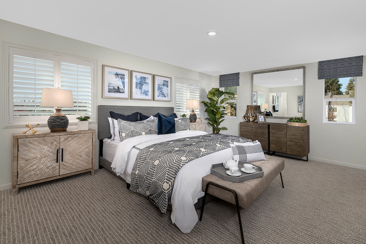 New Homes in Citrus Heights, CA - Heritage at Mitchell Village Plant 2156 Master Bedroom
