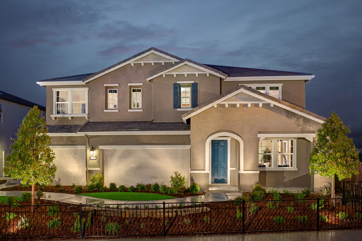 KB model home in Roseville, CA
