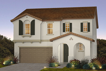 New Homes in Sacramento, CA - Plan 2 - Spanish  Elevation (A)
