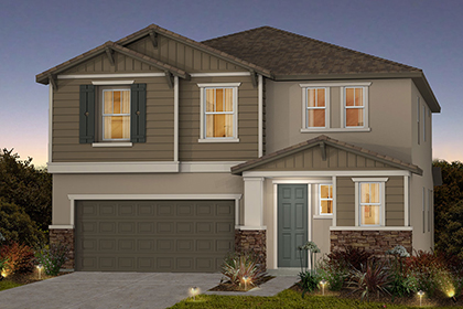 New Homes in Sacramento, CA - Plan 2 - Craftsman Elevation (B)