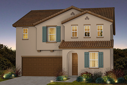 New Homes in Sacramento, CA - Plan 3 - Spanish Elevation (A)