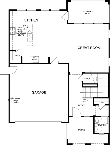 New Homes in Sacramento, CA - Plan 2, First Floor