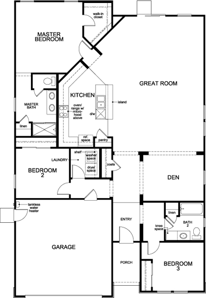 New Homes in Stockton, CA - Plan 1925, First Floor