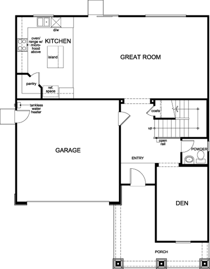 New Homes in Stockton, CA - Plan 2376, First Floor