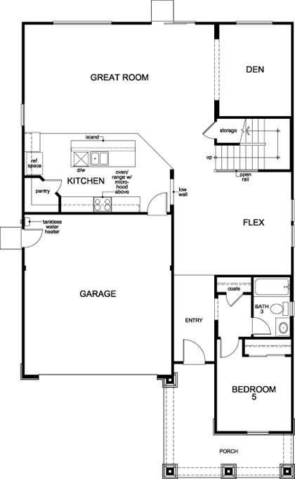 New Homes in Stockton, CA - Plan 3061 Modeled, First Floor