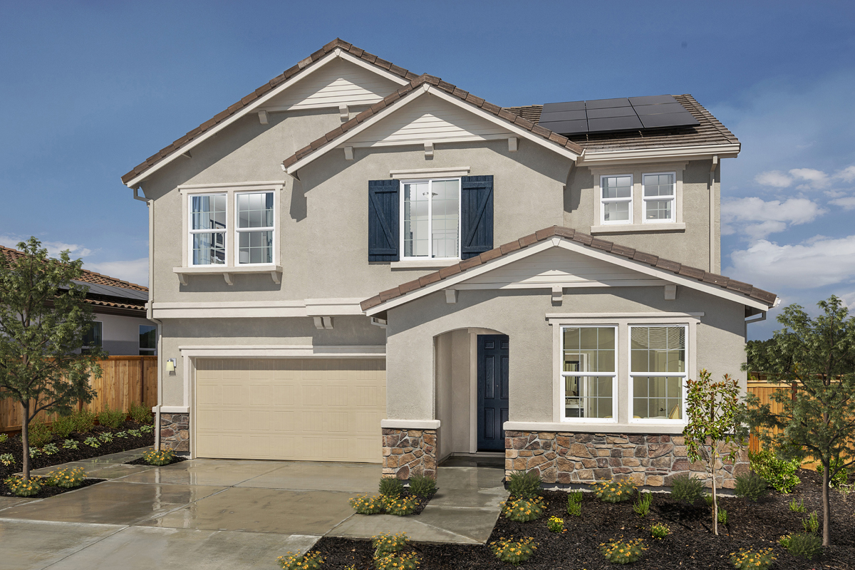 New Homes in Rocklin, CA - Oak Vista Plan 2376 - French Country Elevation (D)