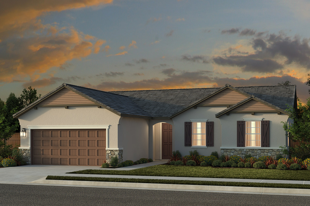 New Homes in Rocklin, CA - Oak Vista Plan 1600 - French Country Elevation (D)