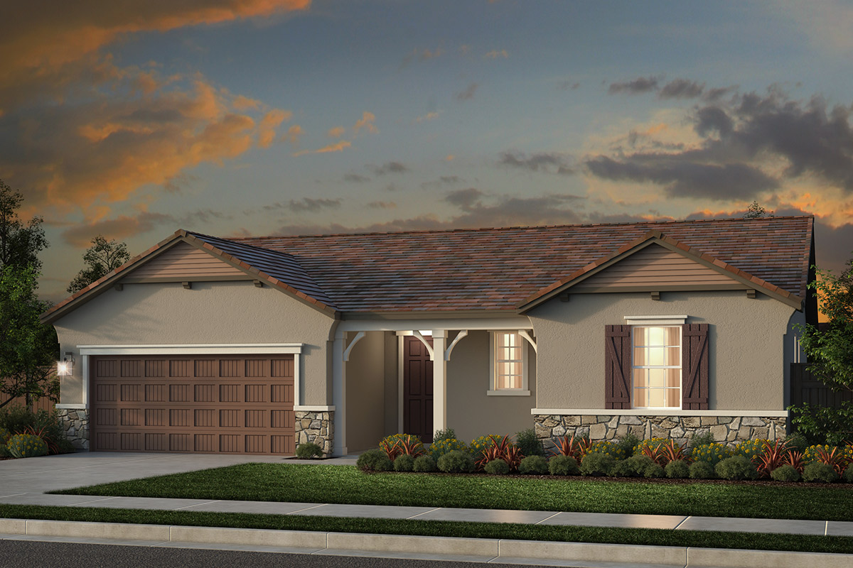 New Homes in Rocklin, CA - Oak Vista Plan 1860 - French Country Elevation (D)
