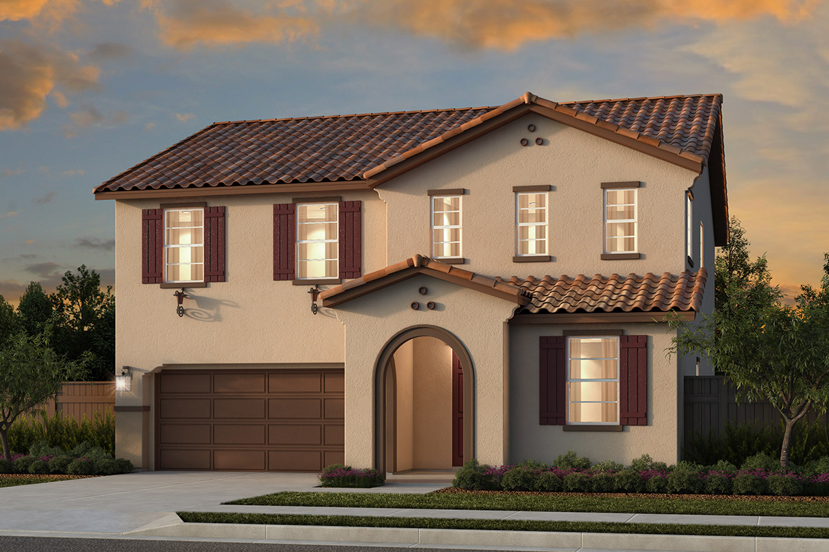 New Homes in Rocklin, CA - Oak Vista Plan 2376 - Spanish Elevation (A)