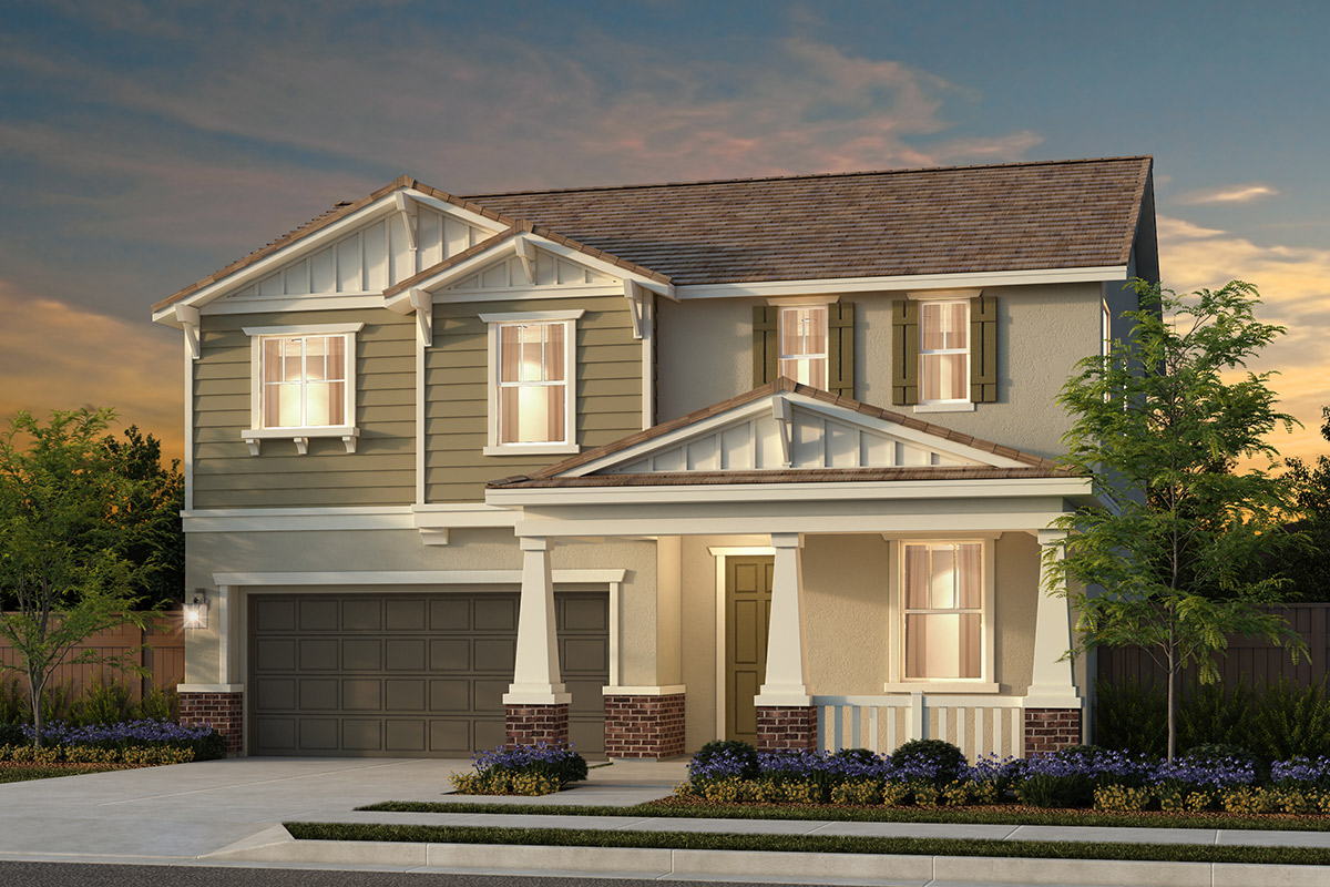 New Homes in Rocklin, CA - Oak Vista Plan 2376 - Craftsman Elevation (B)