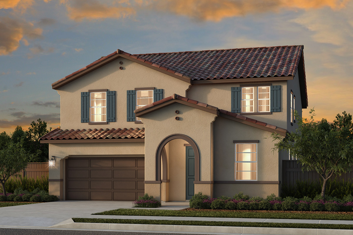 New Homes in Rocklin, CA - Oak Vista Plan 2674 - Spanish Elevation (A)