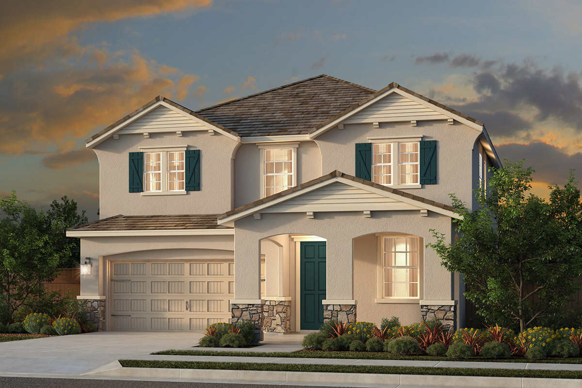 New Homes in Rocklin, CA - Oak Vista Plan 2674 - French Country Elevation (D)