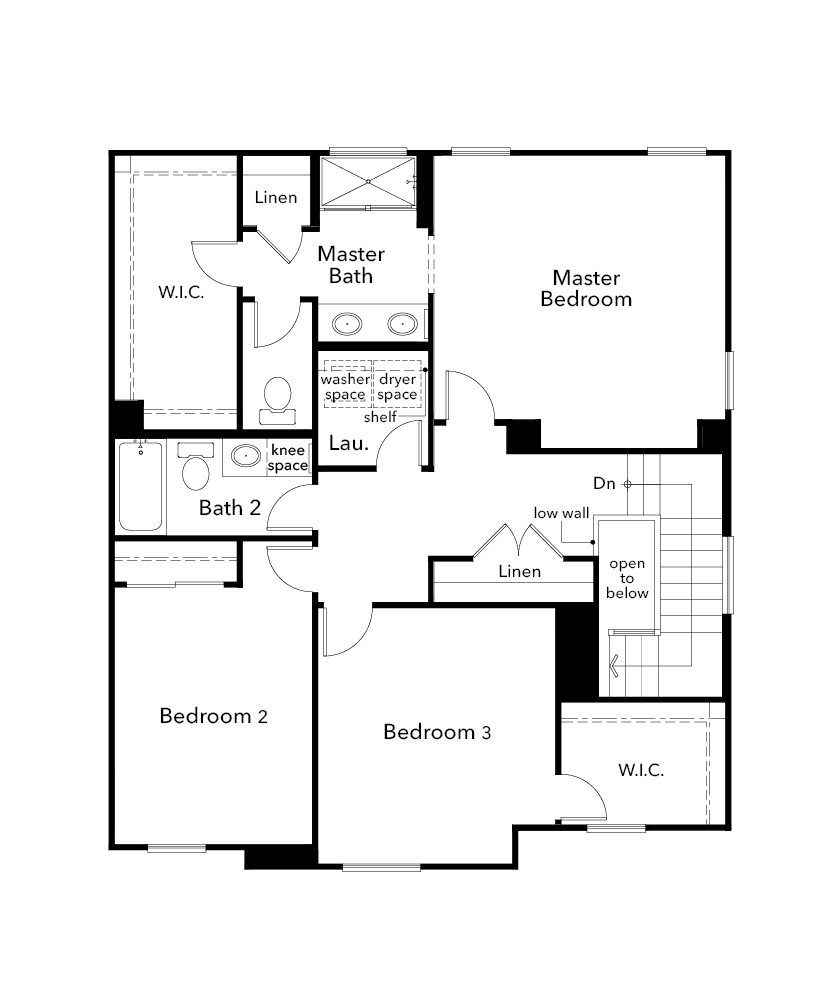 New Homes in Citrus Heights, CA - Plan 1784, Second Floor