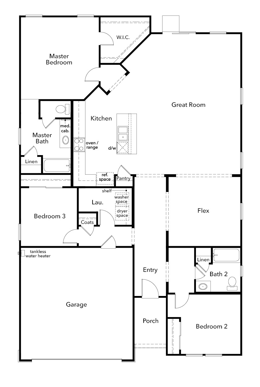 New Homes in Stockton, CA - Plan 1934, First Floor