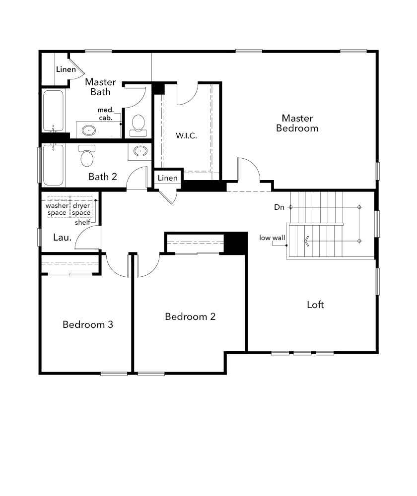 New Homes in Stockton, CA - Plan 2308, Second Floor