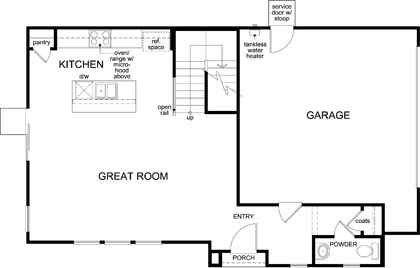 New Homes in Elk Grove, CA - Plan 1787 Modeled, First Floor