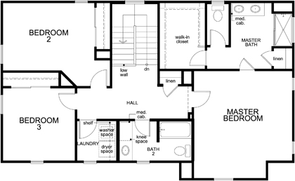 New Homes in Elk Grove, CA - Plan 1787 Modeled, Second Floor