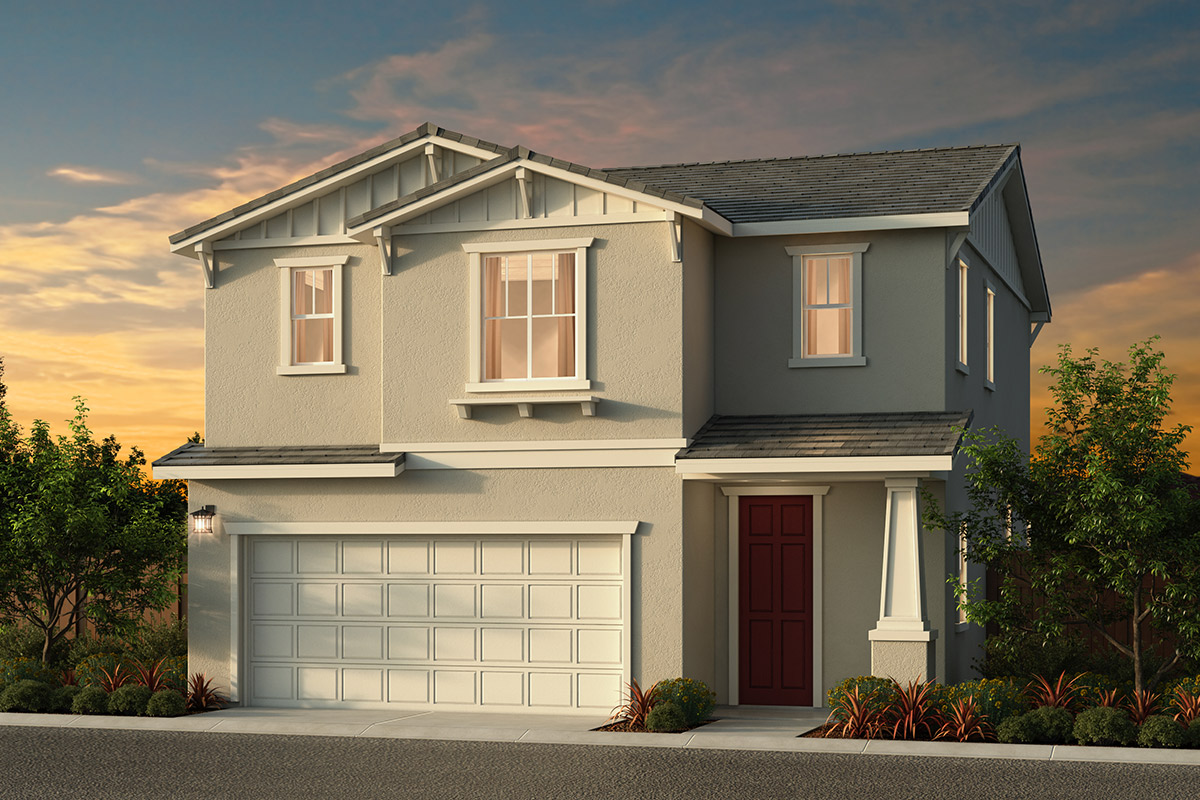 New Homes in Elk Grove, CA - Sheldon Terrace Plan 1580 - Bungalow Elevation (B)