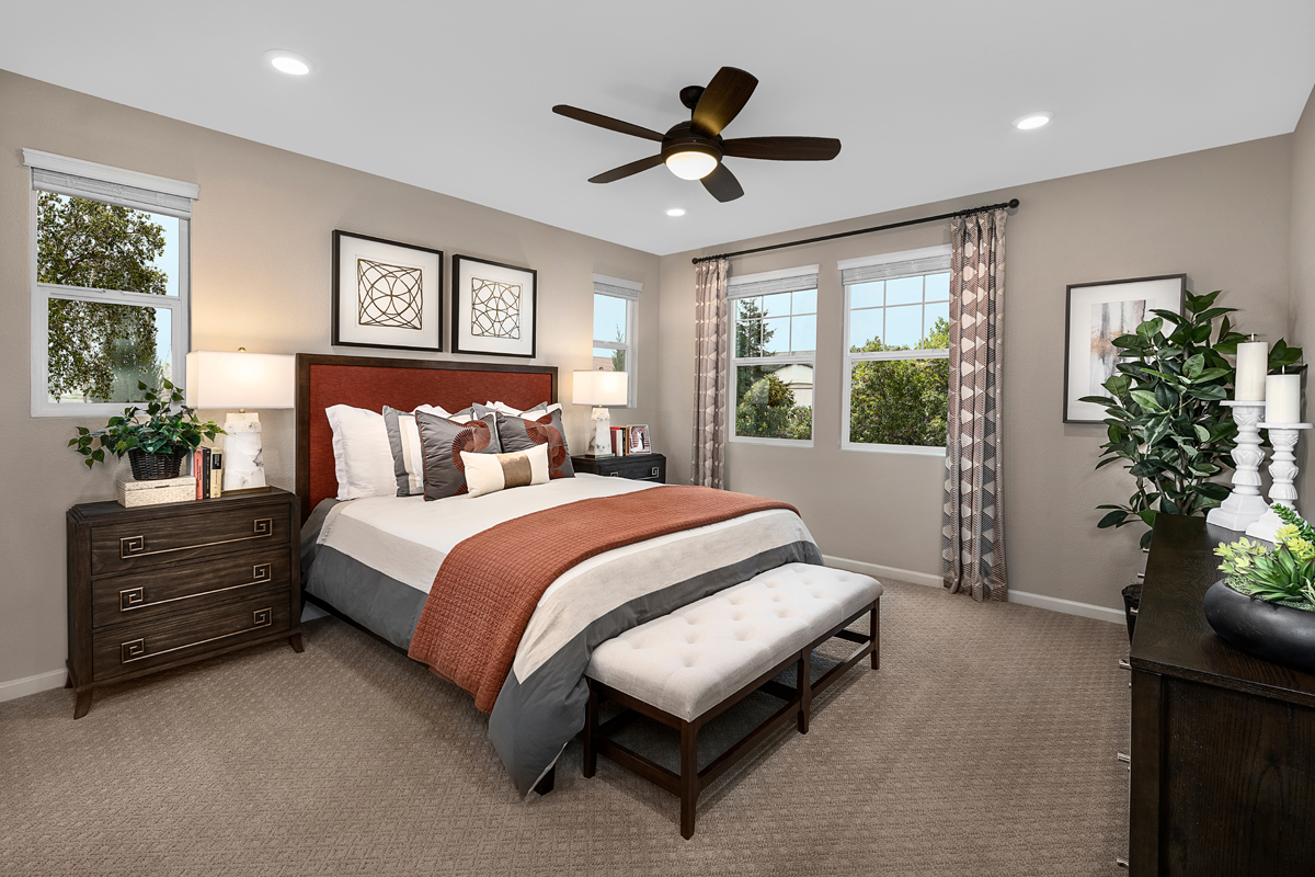 New Homes in Manteca, CA - Haven Cottages at Sundance Plan 1722 - Master Bedroom