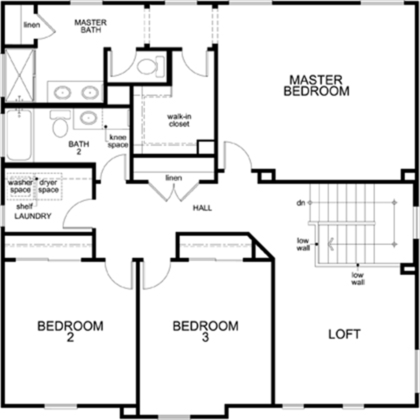 New Homes in Lincoln, CA - Plan 2376, Second Floor