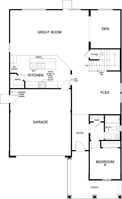 New Homes in Lincoln, CA - Plan 3061 Modeled, First Floor