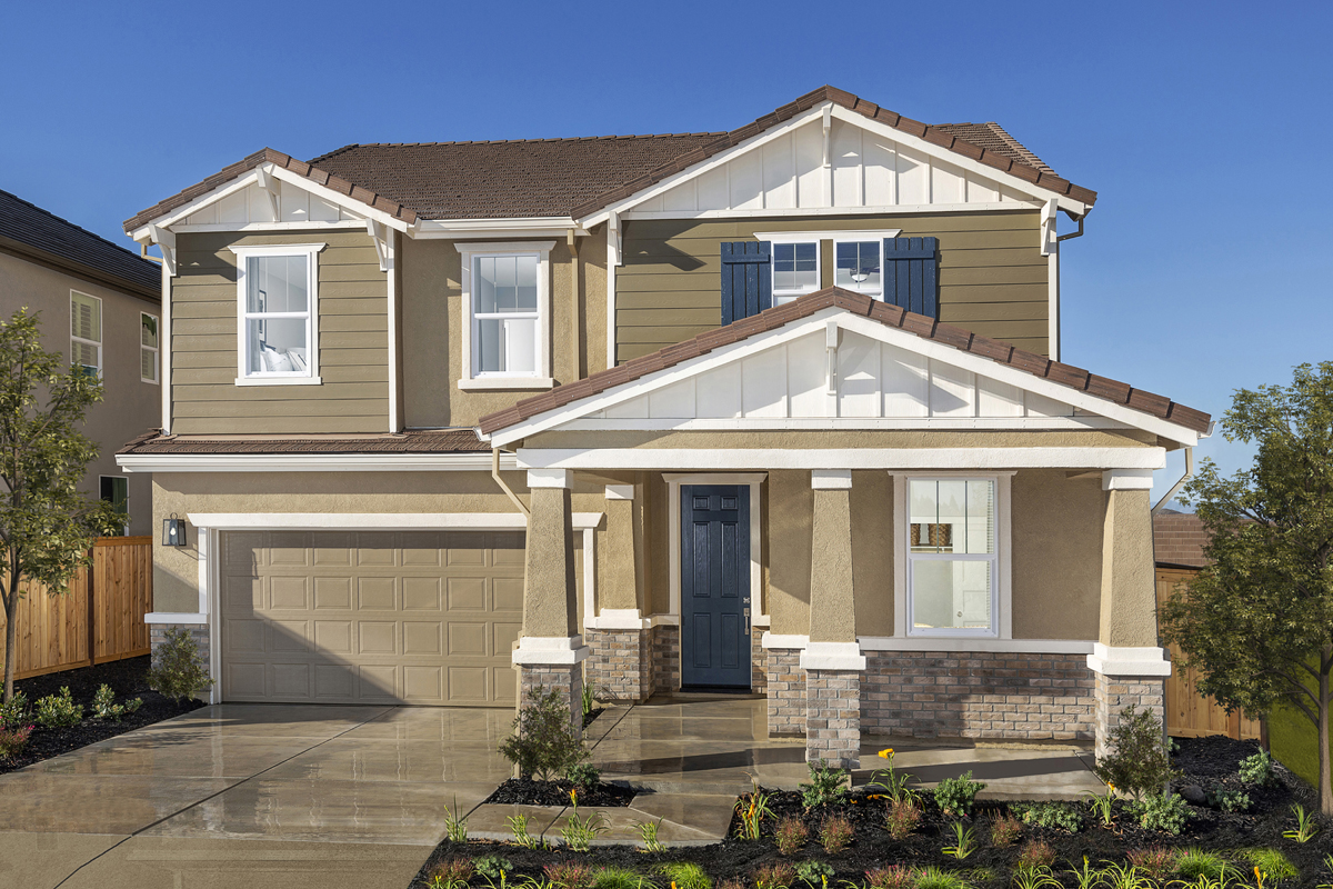 New Homes in Lincoln, CA - Ventana Plan 3061 - Craftsman Elevation (B)