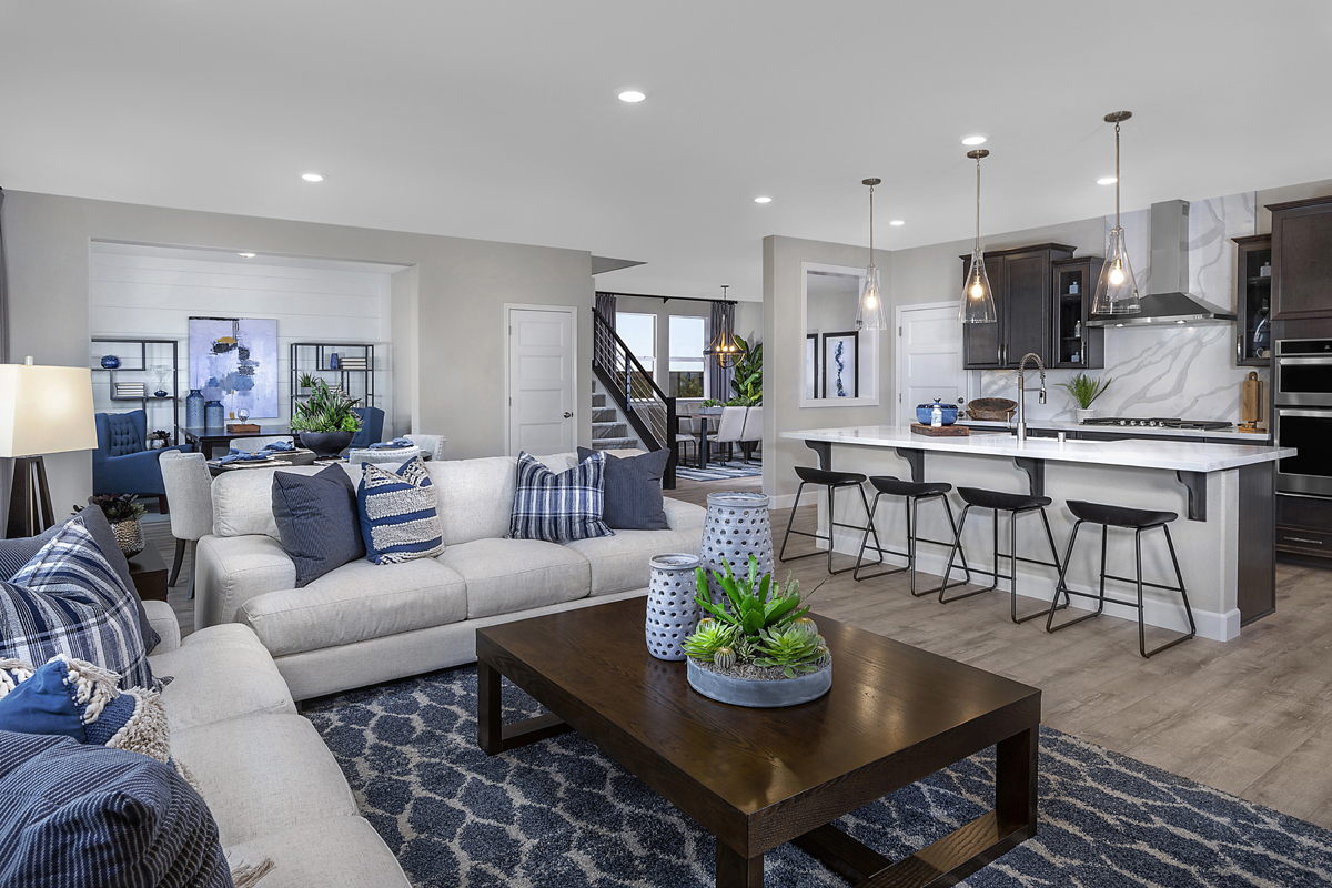 New Homes in Lincoln, CA - Ventana Plan 3061 Greatroom