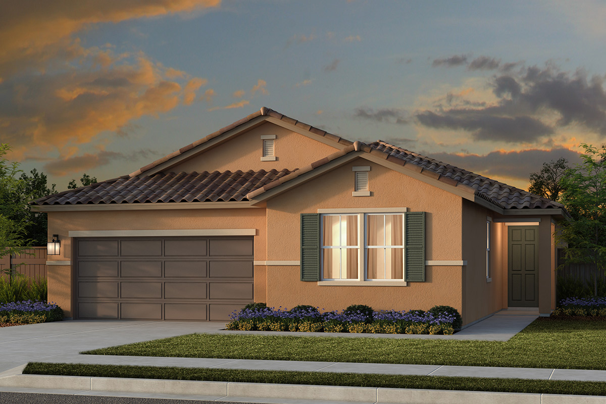 New Homes in Lincoln, CA - Ventana Plan 1979 - Tuscan Elevation (E)