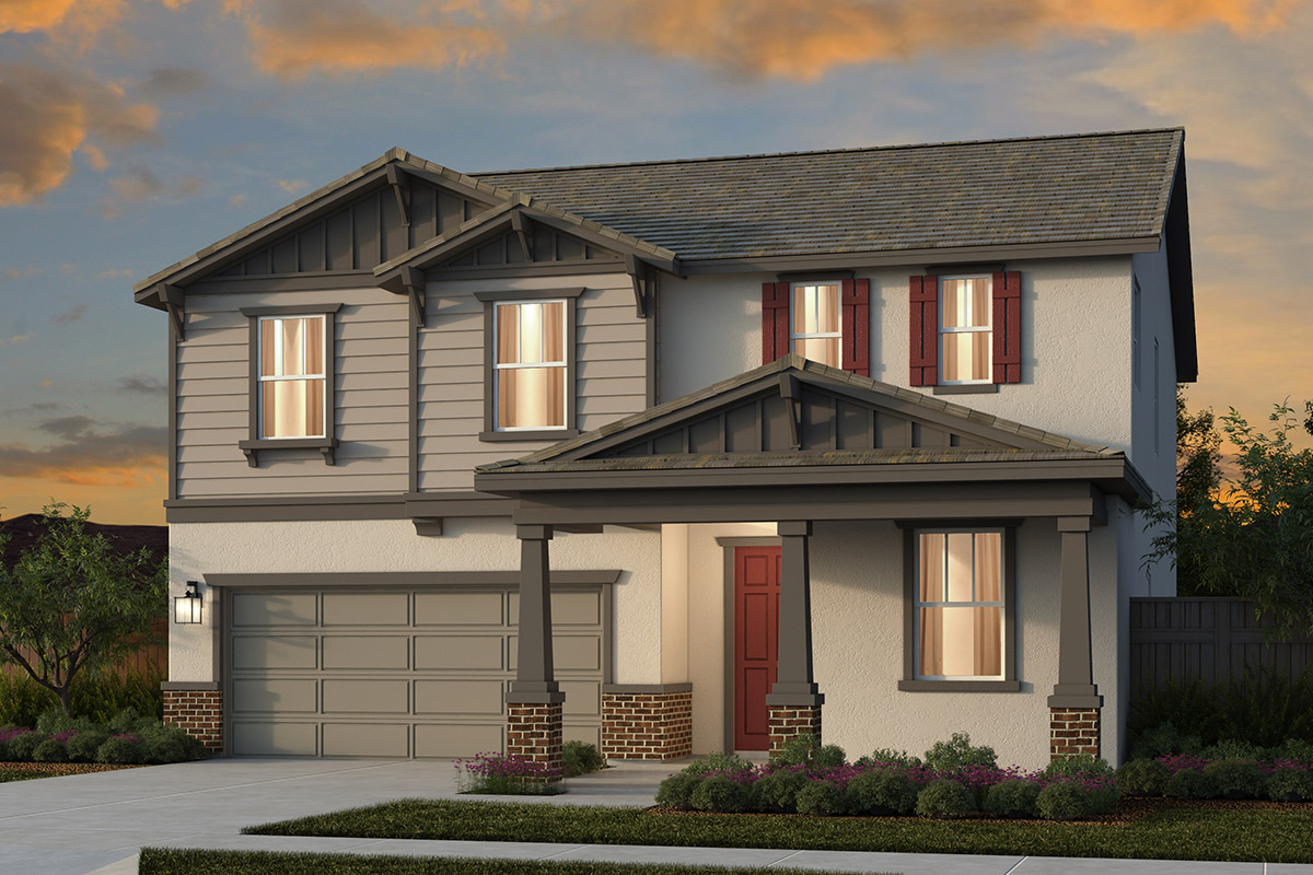 New Homes in Lincoln, CA - Ventana Plan 2376 - Craftsman Elevation (B)