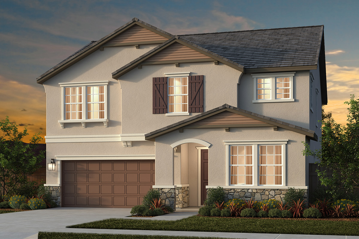 New Homes in Lincoln, CA - Ventana Plan 2376 - French Cottage Elevation (D)
