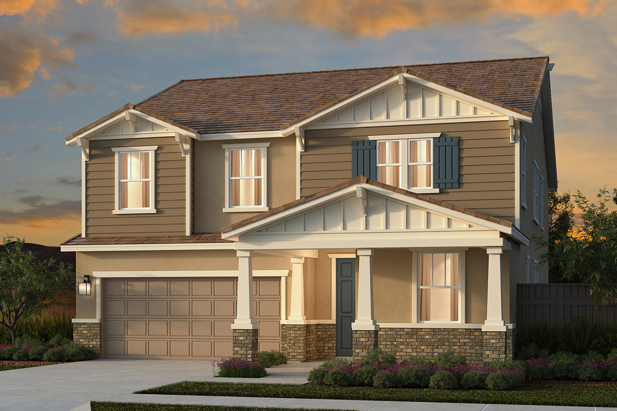 New Homes in Lincoln, CA - Plan 3061 - Craftsman Elevation