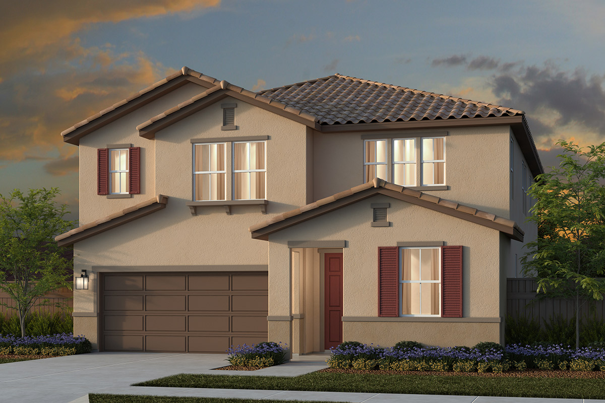 New Homes in Lincoln, CA - Ventana Plan 3061 - Tuscan Elevation (E)