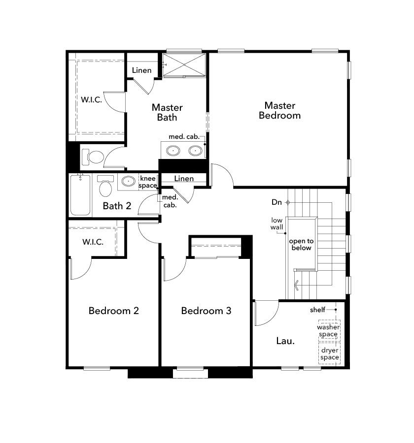 New Homes in Stockton, CA - Plan 1784, Second Floor