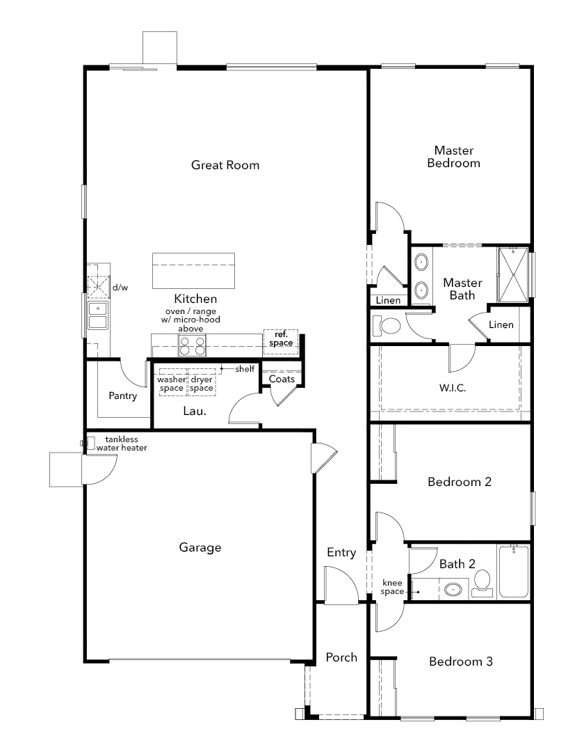 New Homes in Sacramento, CA - Plan 1751, First Floor