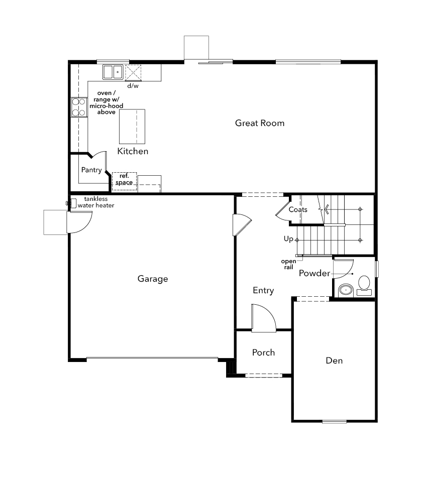 New Homes in Sacramento, CA - Plan 2426, First Floor