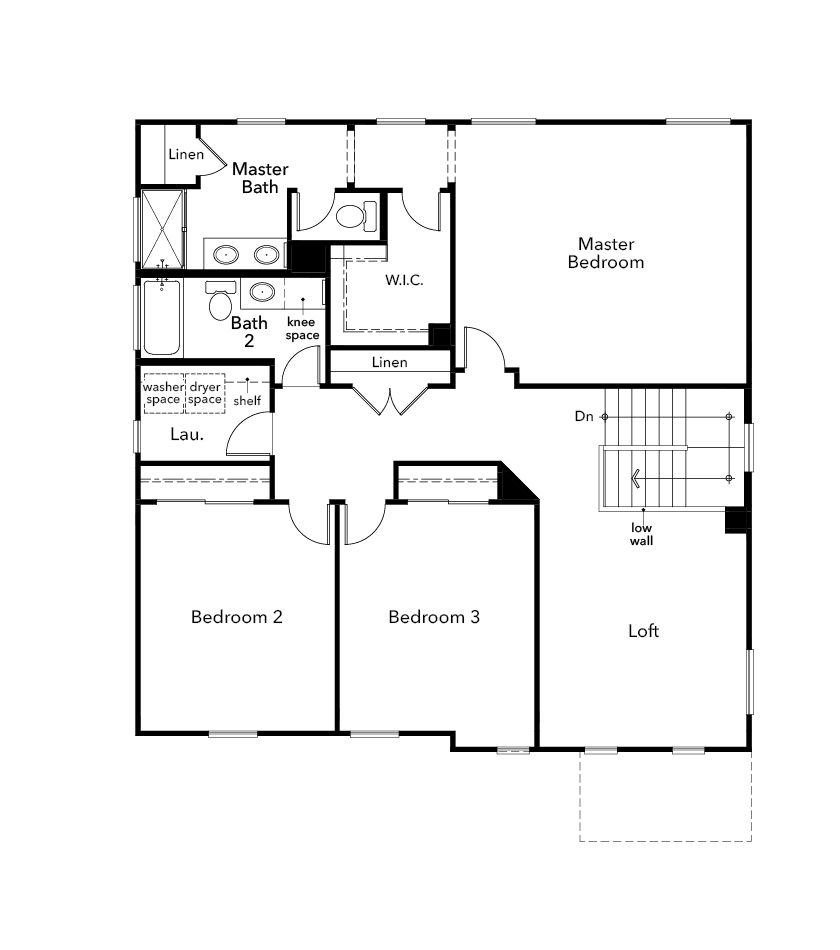 New Homes in Sacramento, CA - Plan 2426, Second Floor