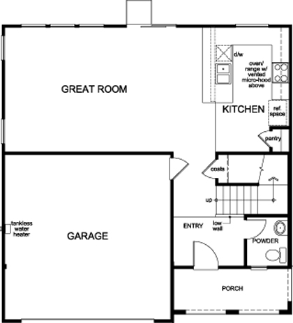 New Homes in Sacramento, CA - Plan 1720, First Floor