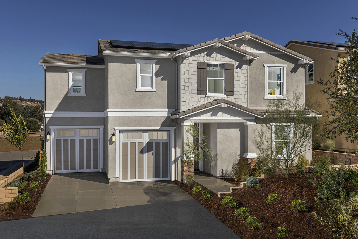 KB model home in Valley Center, CA
